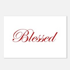 Red Blessed Postcards (Package of 8)