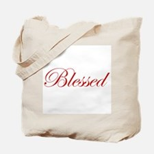 Red Blessed Tote Bag