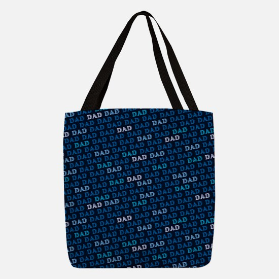 Dad Pattern Polyester Tote Bag