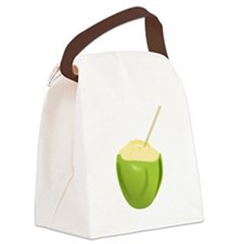 Coconut Drink Canvas Lunch Bag