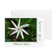 White Hawaiian Flower Thank You (Pk of 10)