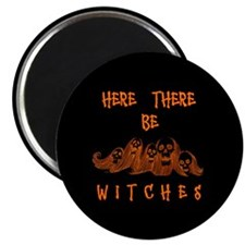 """Here There Be Witches 2.25"""" Magnet (10 pack)"""
