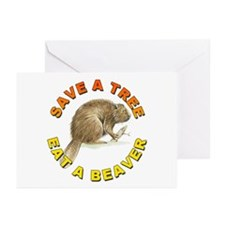 Save a Tree Environment Greeting Cards (Package of