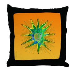 Green Goddess Sun Throw Pillow