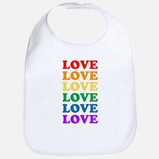 Love Love Love (Rainbow) Bib
