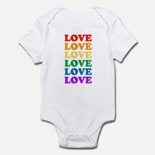 Love Love Love (Rainbow) Infant Bodysuit