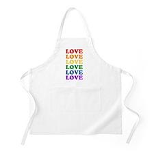 Love Love Love (Rainbow) BBQ Apron