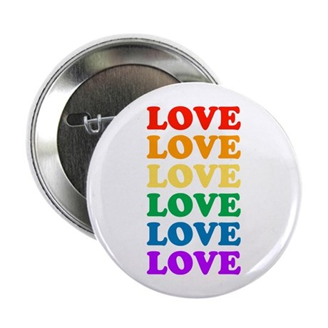 "Love Love Love (Rainbow) 2.25"" Button (100 pack)"