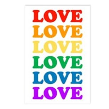 Love Love Love (Rainbow) Postcards (Package of 8)