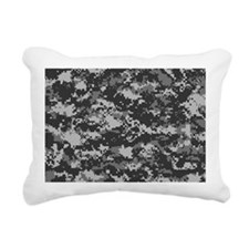 Digital Urban Rectangular Canvas Pillow