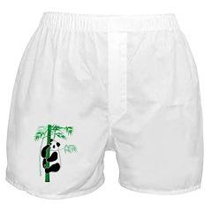 Panda With Bamboo Boxer Shorts