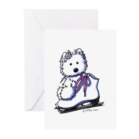 Ice Skate Diva Greeting Cards (Pk of 10)