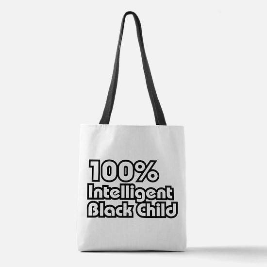 100 Percent Intelligent Black Child Polyester Tote