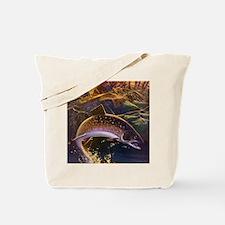 Vintage Fish, Fisherman Fishing Tote Bag