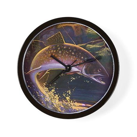 Vintage fish fisherman fishing wall clock by admin cp14940502 for Fish wall clock