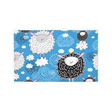 Whimsical Sheep 3'x5' Area Rug