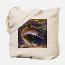 Vintage Fishing, Trout Fish Tote Bag