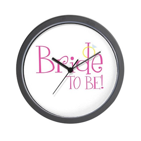 Bride To Be Wall Clock