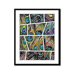 Peacock Cartoon - Framed Panel Print
