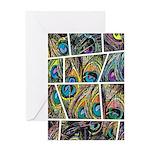 Peacock Cartoon - Greeting Card