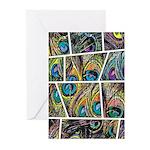 Peacock Cartoon - Greeting Cards (Pk of 10)