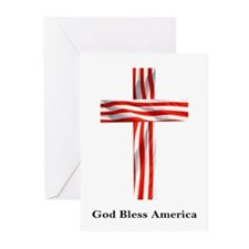 """God Bless America"" Greeting Cards (Pk of 10)"