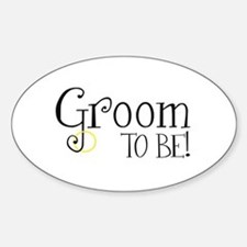 Groom To Be Oval Decal
