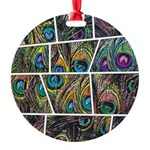 Peacock Cartoon - Round Ornament