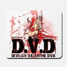Devilish Valentine Diva Mousepad