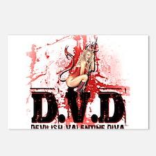 Devilish Valentine Diva Postcards (Package of 8)