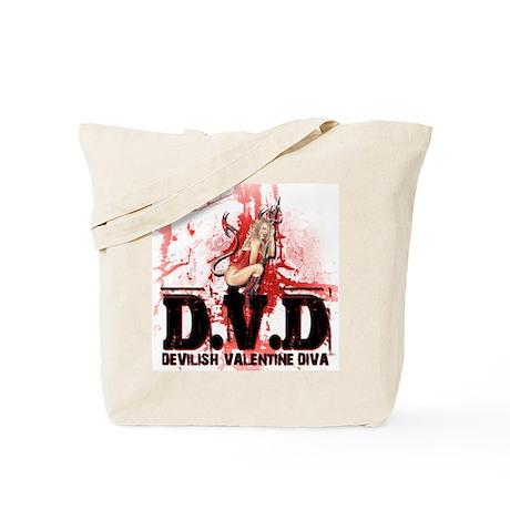 Devilish Valentine Diva Tote Bag