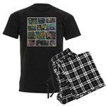 Peacock Cartoon - Men's Dark Pajamas