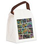 Peacock Cartoon - Canvas Lunch Bag