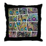 Peacock Cartoon - Throw Pillow