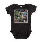 Peacock Cartoon - Baby Bodysuit