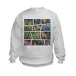 Peacock Cartoon - Kids Sweatshirt