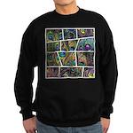 Peacock Cartoon - Sweatshirt (dark)