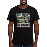 Peacock Cartoon - Men's Fitted T-Shirt (dark)