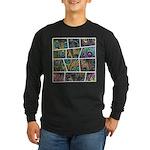 Peacock Cartoon - Long Sleeve Dark T-Shirt