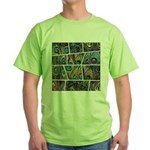 Peacock Cartoon - Green T-Shirt