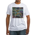 Peacock Cartoon - Fitted T-Shirt