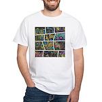 Peacock Cartoon - White T-Shirt