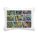 Peacock Cartoon - Rectangular Canvas Pillow