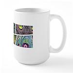 Peacock Cartoon - Large Mug