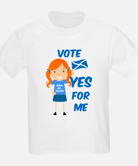 Vote Yes Girl T-Shirt