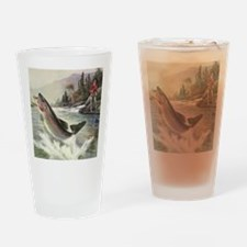 Vintage Fishing, Rainbow Trout Drinking Glass