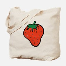 Red Strawberry Tote Bag