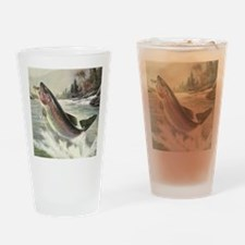 Vintage Rainbow Trout Drinking Glass