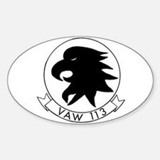 VAW 113 Black Eagles Oval Decal