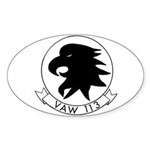VAW 113 Black Eagles Oval Sticker